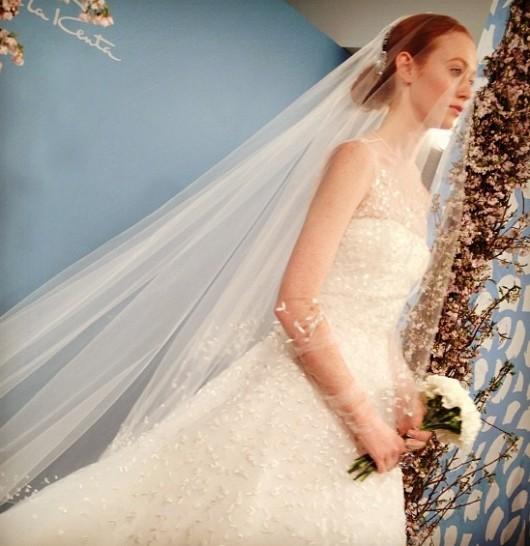 abito da sposa Oscar de la Renta Spring 2014 foto gogoluxe on Instagram