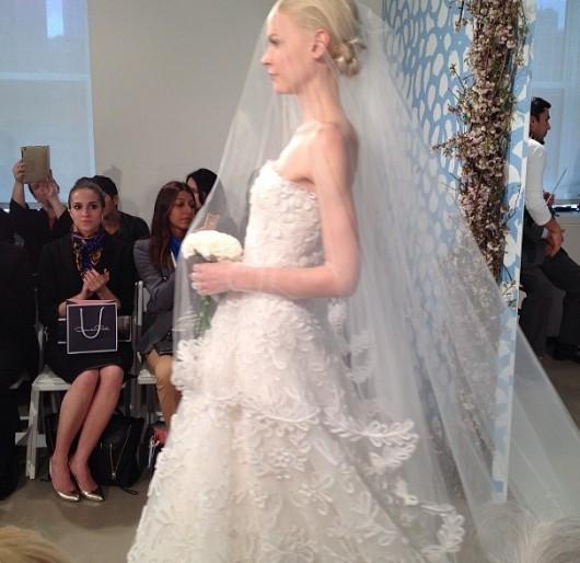 abito da sposa Oscar de la Renta Spring 2014 foto bridalguide on Instagram