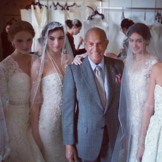 collezione sposa Oscar de la Renta Spring 2014 foto moisesoscar on Instagram