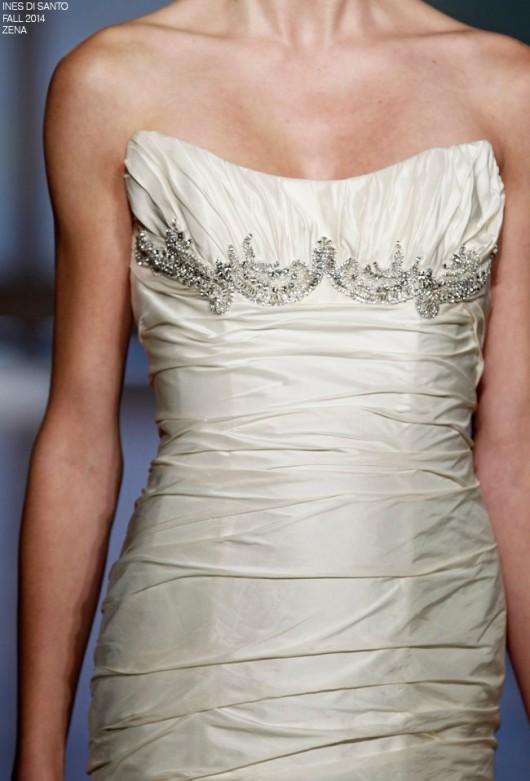 abito da sposa Zena Ines di Santo Fall 2014 foto styleunveiled.com