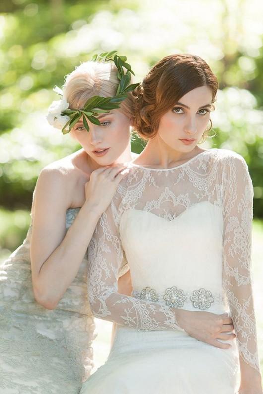 abiti da sposa Emerald ed Estelle Sareh Nouri Fall 2014 foto Millie B Photography