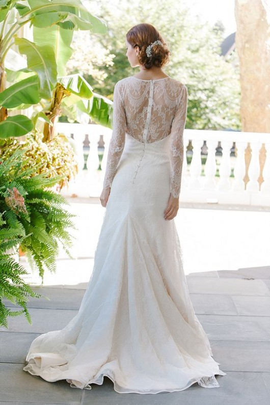 abito da sposa Estelle Sareh Nouri Fall 2014 back foto Millie B Photography