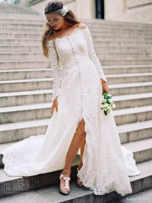 abito da sposa Halina Sareh Nouri Fall 2014 foto weddinginspirasi