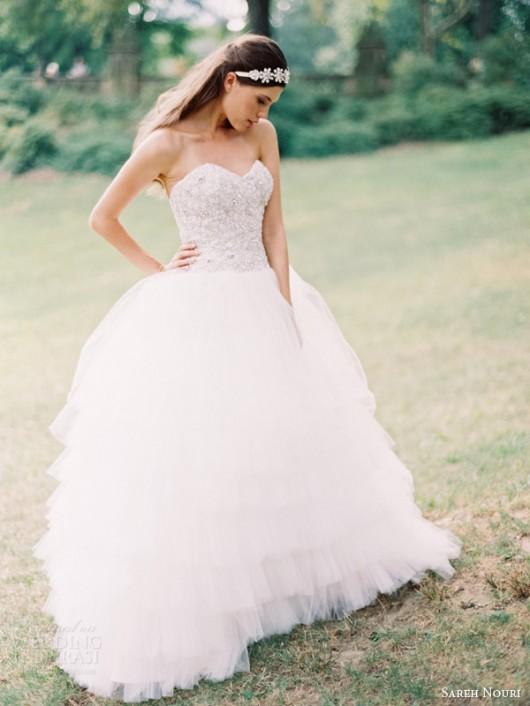 abito da sposa Lily Sareh Nouri Fall 2014 foto weddinginspirasi