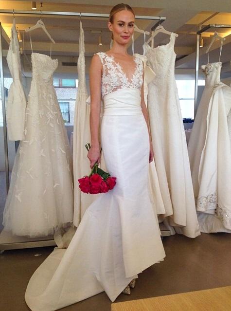 abito da sposa Oscar de la Renta Fall 2015 foto womensweardaily