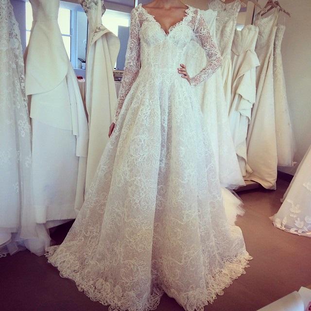 abito da sposa Oscar de la Renta Fall 2015 foto laterlierblanc