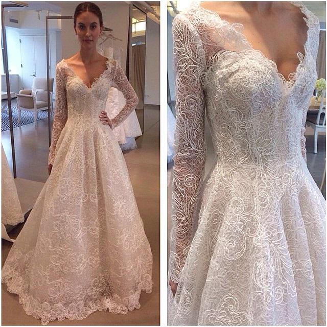abito da sposa Oscar de la Renta Fall 2015 foto weddingnotes