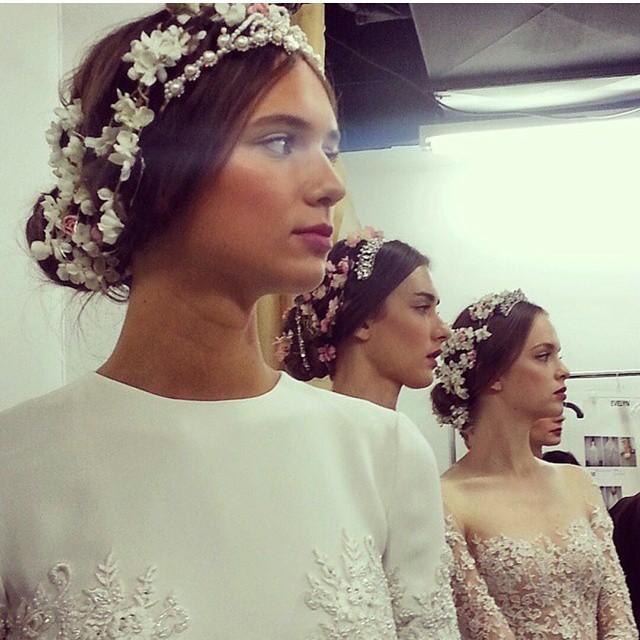 Reem Acra Fall 2015 acconciatura foto bridalthoughts
