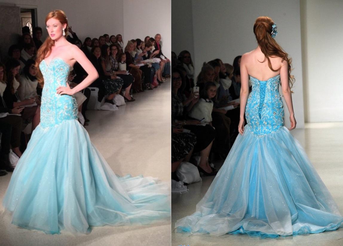 06e351c9a0c5 L abito da sposa azzurro per nozze da fiaba