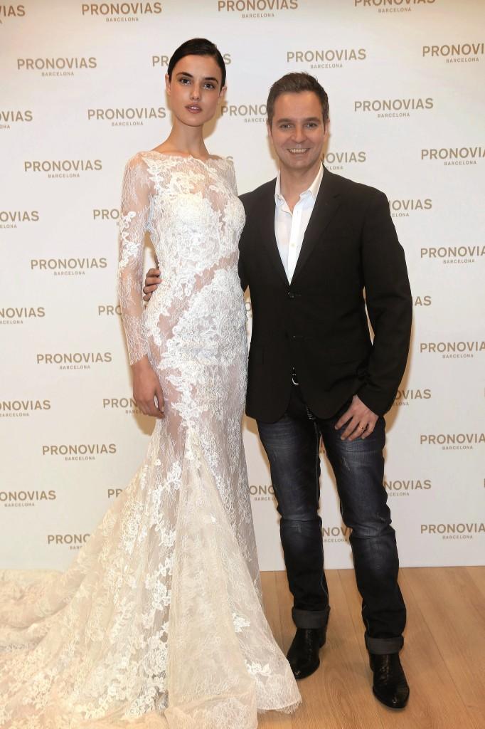 Blanca Padilla nell'abito Varel Atelier Pronovias 2016