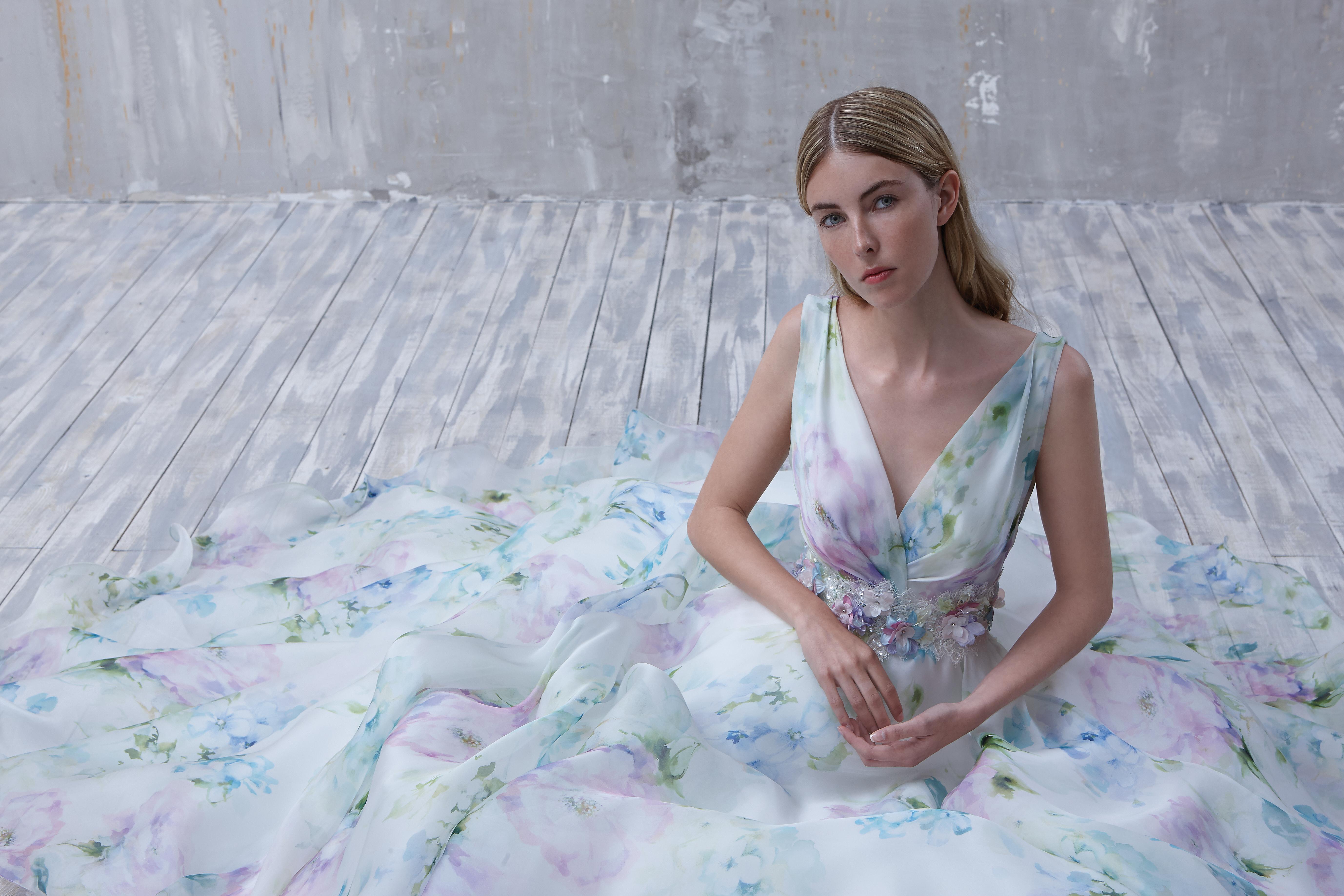 Abiti da sposa fantasia floreale