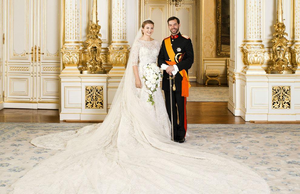 Stéphanie de Lannoy sposa in Elie Saab