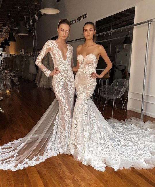 migliore a buon mercato 8f742 8d9eb Stravagante e glam la collezione sposa Berta Spring 2020 Milano ...