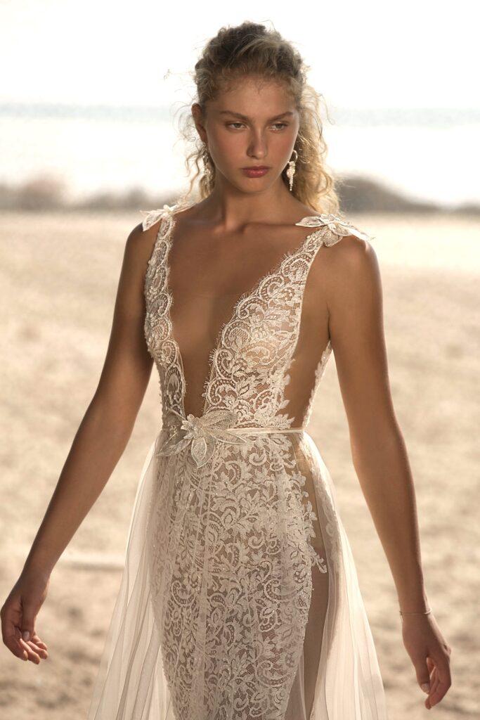 abito da sposa con pannelli trasparenti Muse Berta 2021