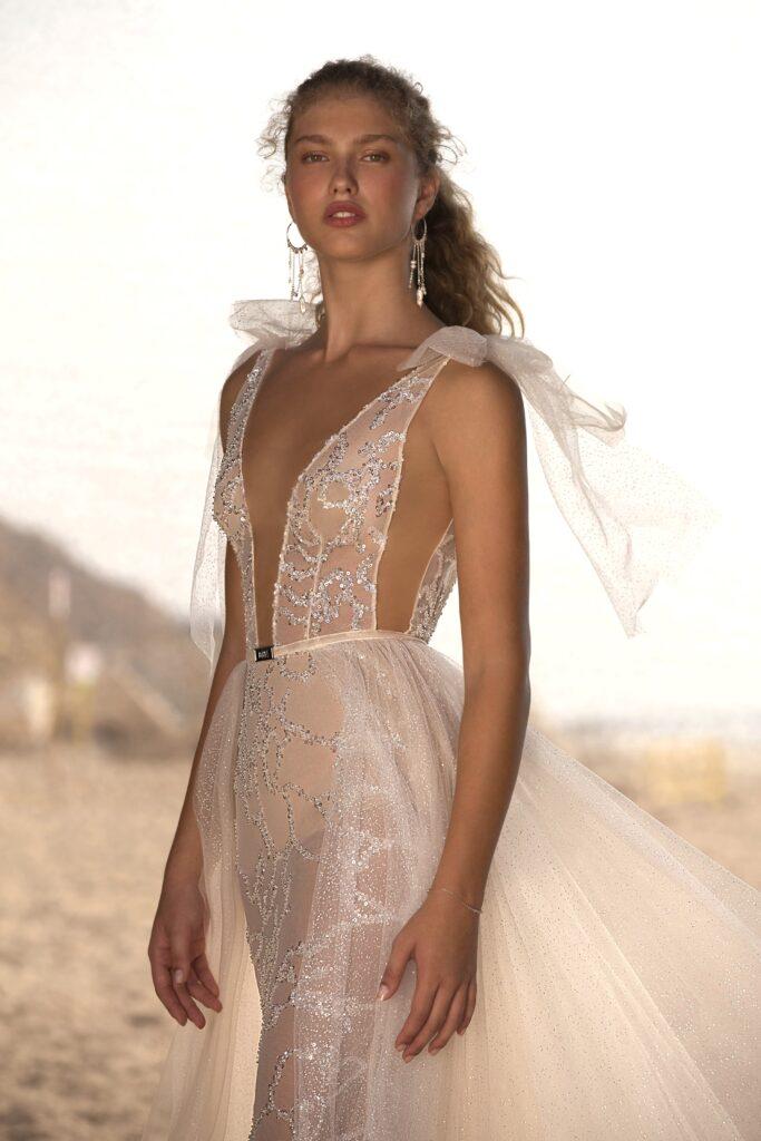 abito da sposa con gonna rimovibile Muse Berta 2021