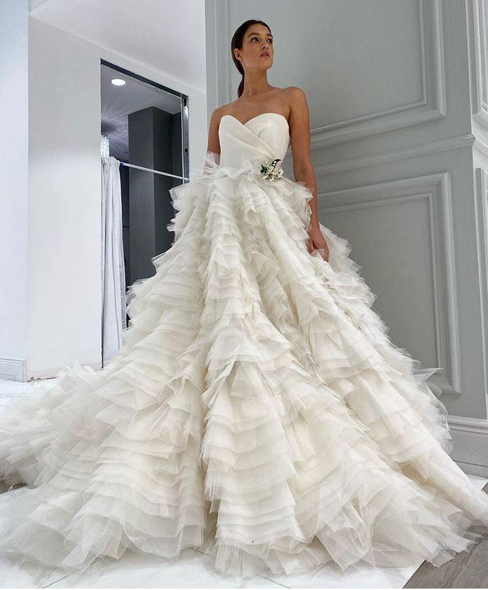 abito da sposa da principessa Monique Lhuillier Fall 2021