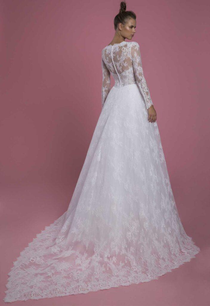 abito da sposa Pnina Tornai in pizzo prezzo sotto 3.000 dollari
