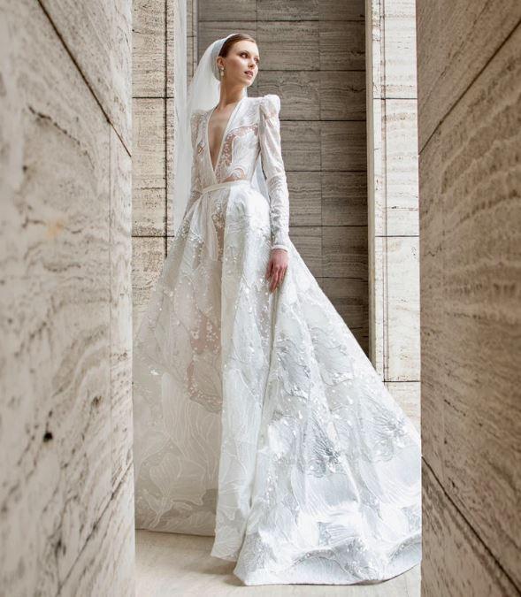 abito da sposa ricamato Elie Saab