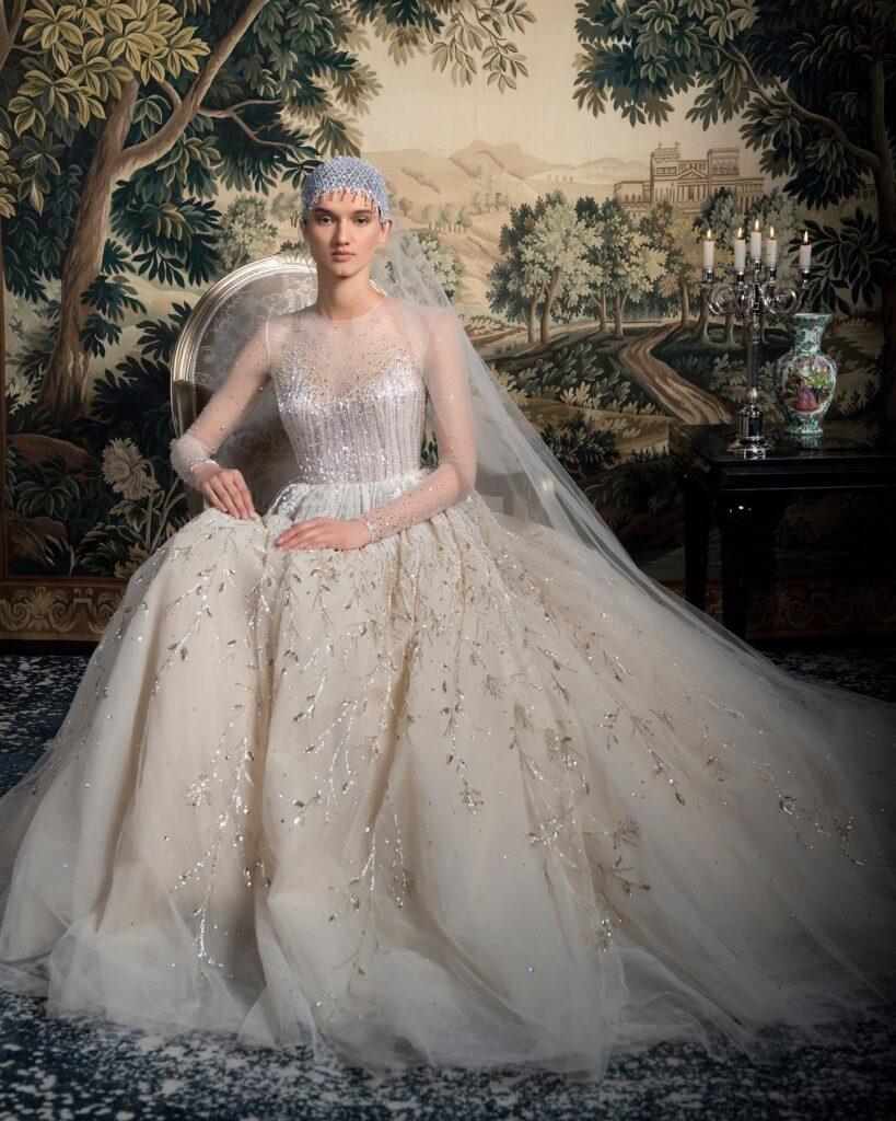 juliet cap e abito da sposa Georges Hobeika Spring 2022