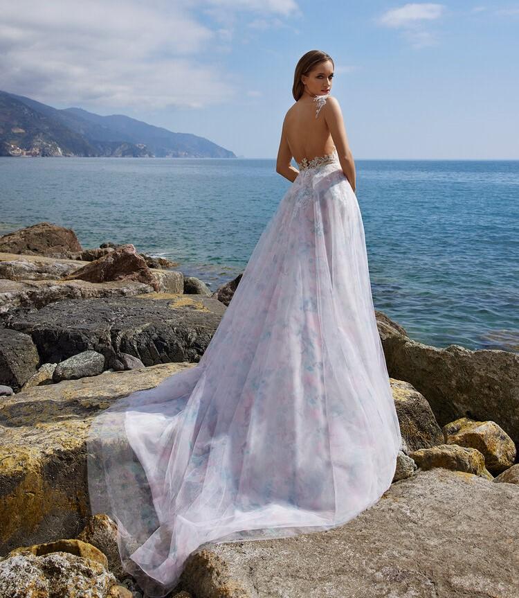 abito da sposa colorato Ines di Ines di Santo Spring 2022 Clio